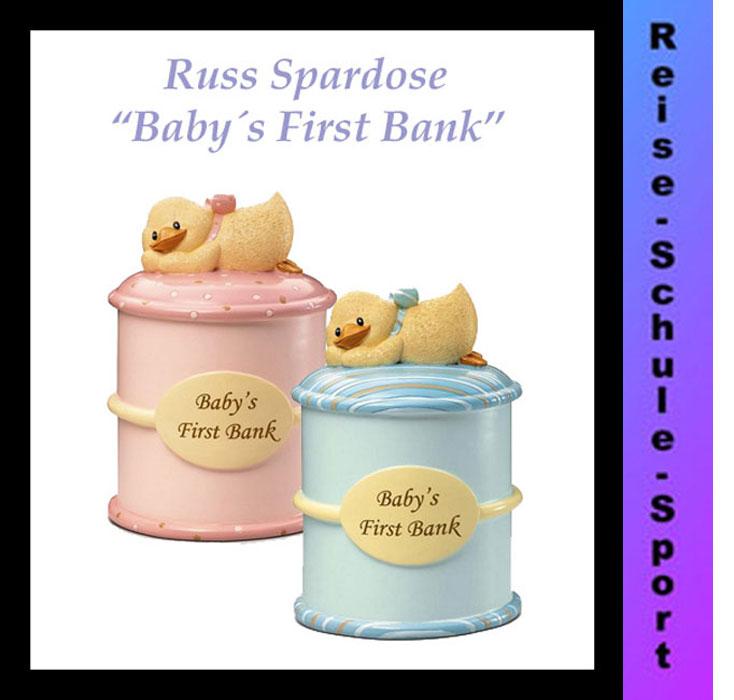 russ baby spardose first bank zwillinge taufe geburt geburtstag geld ebay. Black Bedroom Furniture Sets. Home Design Ideas